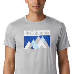 Columbia Zero Rules Graphic koszulka Mężczyźni, columbia grey heather peak fun